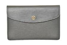 Louis Vuitton Black Epi Montaigne 27 Clutch Bag M52652 - YF00265