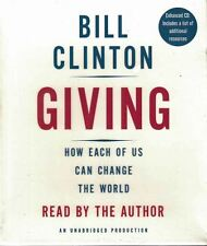 Giving How Each of Us Can Change the World by Bill Clinton 2007 CD Unabridged