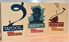 SIGNED Limited Ed 3 BK SET - WOOL - SHIFT - DUST by Hugh Howey (NEW) Hardcovers