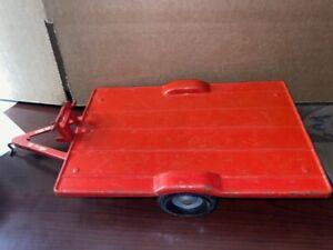 TRU-SCALE Red TILT FLAT TRAILER Farm Tractor Attachment Vintage