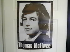 IRISH REPUBLICAN ORIGINAL LARGE THOMAS MCILWEE HUNGER STRIKER POSTERLONG KESH 81