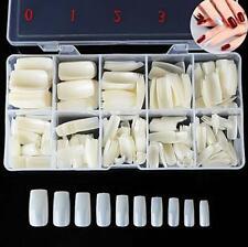 500Pc Artificial Nail Tip Natural Color Full Cover False Nail Tip Box USA SELLER
