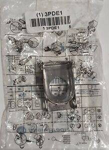 Brady 3PDE1 Push Button Lockout Fits Button Dia. 22.5mm Steel Acrylic Silver