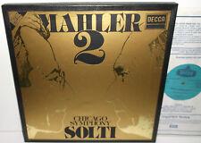D229D 2 Mahler Symphony No.2 Chicago Symphony Orchestra & Chorus Solti 2LP Box