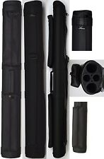 NEW Lucasi LC22M 2x2 BLACK MATTE Finish Pool Cue Case - Two Accessory Pouches