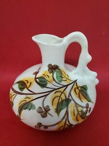 """Vintage 3"""" Tall Mini Pottery Vase Pitcher Made By The Cash Family"""