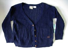 Roxy Girls Patch Pocket Long Sleeve Cardigan Sweater Astra Aura Sz 3 - NWT