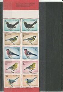 SWEDEN  1970 BIRDS SET BOOKLET  MNH VF