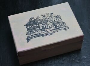 Pink & Cream upcycled wooden box