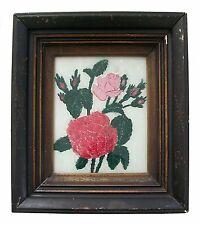 Folk Art Reverse Glass Tinsel Painting - Original Frame - U.S. - Circa 1850's