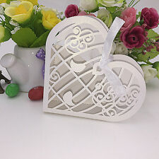 10x BIRDCAGE HEART WEDDING BABY SHOWER CHRISTENING WHITE FAVOUR BONBONIERE BOXES