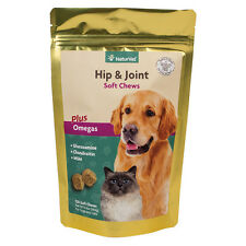 NaturVet HIP and JOINT Mobility Support for Dog and Cat 120 Tasty Soft Chews