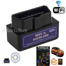 Mini ELM327 OBD2 WiFi Car Diagnostic Code Scanner Tool For iPhone iPad IOS Black