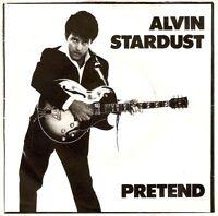"""ALVIN STARDUST Pretend 7"""" Single Vinyl Record 45rpm Stiff 1981"""