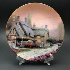 "Plate Decorative Beautiful Thomas Kinkade ""Mc Kenna's Cottage"" 1992 #11486A."