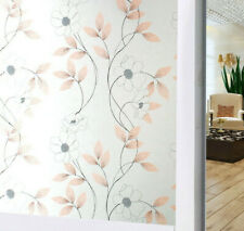 Timeet Privacy Window Film Static Cling Glass Stickers Home Decor Frosted Flower