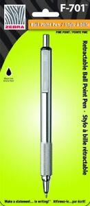 Zebra Pen F-701 Retractable Ballpoint Pen - 0.7 Mm Pen Point Size - Black Ink -