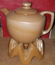 Vintage FRANKOMA TEA Coffee POT 5-TL GOLDEN BROWN  MARKED w/ WA1 Warmer Base
