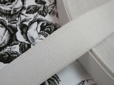"10 yards 1 1/4"" width white elastic for sewing lingerie headbands or fashion"