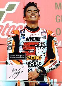Marc MARQUEZ SIGNED Autograph 16x12 Photo Dry Mount AFTAL COA MOTO GP Rider