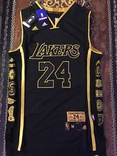 LIMITED EDITION LA LAKERS KOBE BRYANT JERSEY SNAKESKIN BLACK SIZE MEDIUM M 40