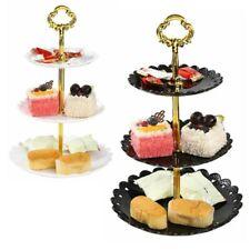 3Tier Plastic Cake Cupcake Stand Holder Dessert Display Tower Plate Tray Wedding