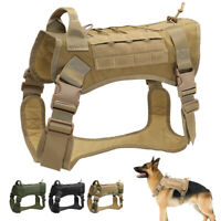 Military Dog Tactical Harness Large Dog K9 Training Harness Vest & Strong Handle