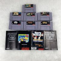 Super Nintendo Bundle / Lot of 7 Games and Some Manuals - SNES Authentic