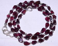 (eVB1050) Garnet Natural Gemstone Beads  Necklace