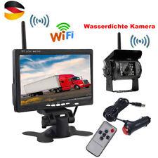 FUNK RÜCKFAHRSYSTEM Mit Rückfahrkamera 7 Zoll Monitor für KFW LKW CAMPER 12V 24V