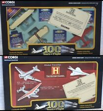 Corgi Diecast Airplanes Authentic Replica Collectible Set History Channel - NEW!