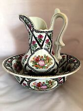 Limoges  Washbowl and Pitcher ceramic France 20th century