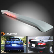 2003-2008 Mazda 6 4Dr Factory Style ABS Trunk Rear Spoiler Wing+LED Brake Light