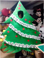 Christmas Tree Mascot Costume Xmas Cosplay Party Dress Outfit Unisex Fancy Adult