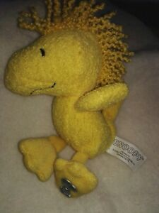 Small Snoopy Peanuts Yellow Bird Soft Toy Collectable