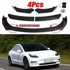 Carbon Fiber Front Bumper Lip Body Kit Spoiler Splitter Trim For Tesla Model 3