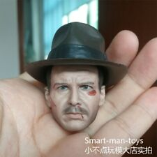 1/6 Soldier Accessories Indiana Jones Head Sculpt War Damage Male Figure Toys