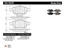 Disc Brake Pad Set-C-TEK Ceramic Brake Pads Front Centric 103.16270