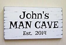 Man Cave Sign Personalised Wooden Rustic Shabby Vintage Christmas Gift Idea