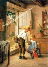 A Cosy Kitchen Scene by François Philippe Sauvage Artwork by Selby Prints