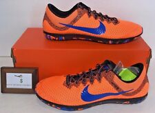 NIKE MENS SIZE 10.5 ZOOM RIVAL XC RUNNING RACING SHOES ORANGE WITH SPIKES WRENCH