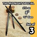 "(3) ""THE MIDNIGHT SPECIAL"" RAZOR SHARP STEEL NINJA DOUBLE TIP THROWING SPIKES"