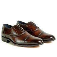 Zapatos de piel para hombre fabricación goodyear welted patina marrón 9UK-43