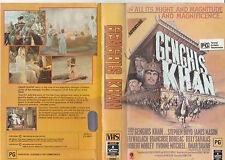 GENGHIS KHAN OMAR SHARIF JAMES MASON ELI WALLACH TELLY SAVALAS PAL VHS VIDEO