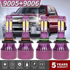 9005 9006 LED Headlight 600W 60000LM For Chevrolet Silverado 1500 2500 3500 4Pcs