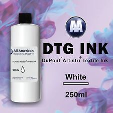 DTG Ink White 250ml Dupont Artistri Ink, Best Direct to Garment Printer Ink