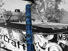 """Premium Blue Digital Camo Boat Watercraft Trailer Guide Ons On Pads Covers  36"""""""