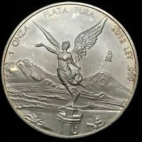 2012 Mexico 1 oz 0.999 Silver Libertad 1 Onza Plata Pura Bullion Coin Gem BU.