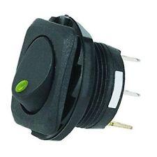 Hella H61923001 On/Off SPST LED Green Rocker Switch 20 Amp Flush Mount Universal