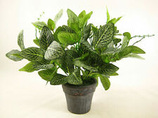 Silver Net Artificial Plant in Dark Grey Pot ~ Potted House Plant Conservatory
